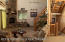 River Rock propane fireplace