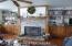 beautiful brick woodburning fireplace w/heatilators