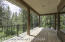sliding glass doors off master to covered deck