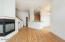 Living Area Looking towards Kitchen