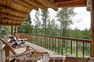 Wrap around porch with Teton views