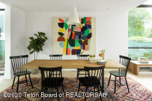 Large dining area for family gatherings and entertaining.