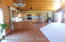 soaring tongue and groove ceiling in great room