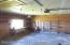 finished two car garage with concrete floor and insulated doors. Access to back yard.