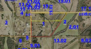 15.356 acres is in the yellow box.