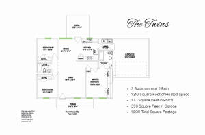 1066 CR 90 (Lot 32 Twins plan), New Albany, MS 38652