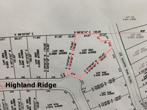 Lot 250 North Ridge (Highland Ridge), Saltillo, MS 38866