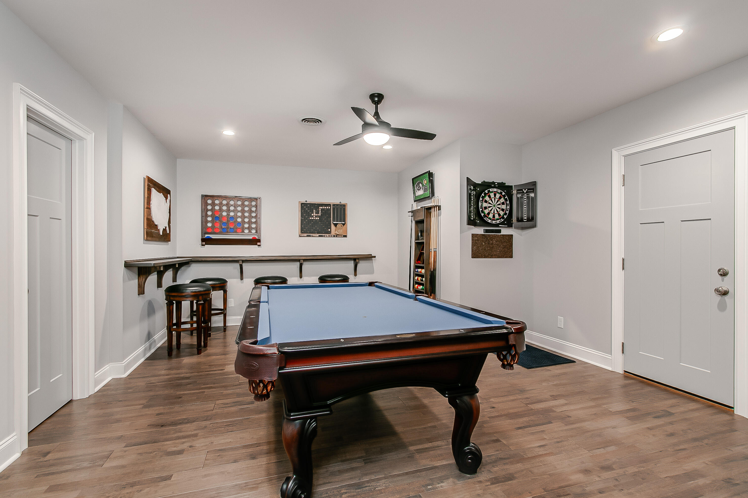 Rec room complete with pool table