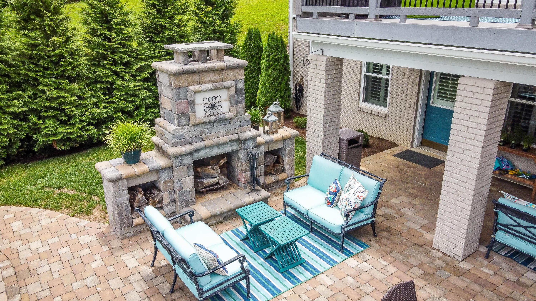 Lower patio fireplace