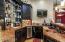 Wet bar with kegerator, dishwasher