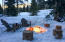 Enjoy the propane firepit year round