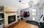 Basement / Lockoff Fireplace