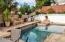 Stone decking with designer stone accents.