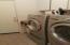 Indoor laundry room.
