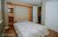 Murphy bed in downstairs bedroom