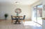 Dining area off the kitchen which can easily accommodate a large dining room table.