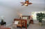 Vaulted ceiling, ceiling fan, Plantation Shutters, Stainmaster carpet with pet protect cushion