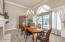 Extra large dining room with panoramic views of the Santa Rosa Valley.
