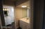2nd bathroom with 2 sinks, shower, bathtub and toilet.