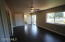 Master bedroom with walk in closet and sliding door closet. Private master bathroom, new everything.