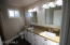 Master bathroom with granite countertops and everything new.