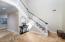 Spacious Foyer with Travertine Flooring