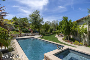 Custom designed pool, spa, gardens