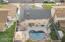 Drone view looking toward rear yard