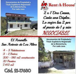 Casa En Ventaen San Antonio De Los Altos, El Amarillo, Venezuela, VE RAH: 21-17680