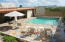 Pool is 18' X 18' and patios encompass 1476 sq. ft.
