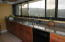 Great galley style kitchen with excellent views