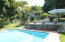 Pool, patio and house