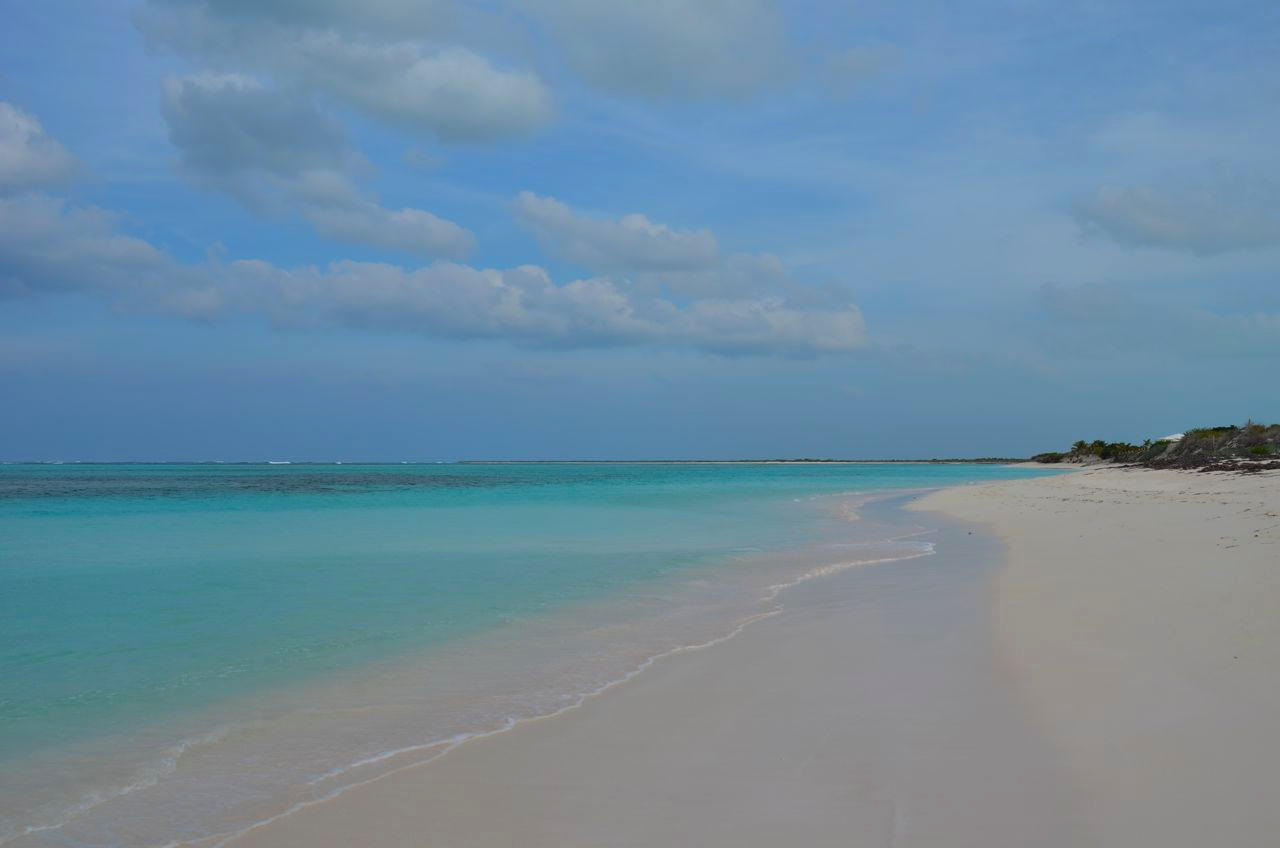 Powdery pink sand and miles of uninterrupted beach