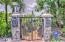 Custom entry gate to this unique and one of a kind waterfront estate!