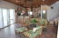 Large great room opens to views of Caribbean Sea