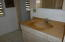 Master bath has two separate and private vanities
