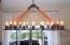 Great custom lighting in dining room