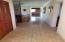 Hallway to 3 bedrooms, 2 baths