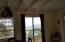 Living room with sliding door to deck