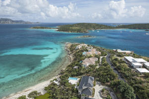 This exclusive peninsula stretches out into the Caribbean offering homeowners spectacular views of the BVI and surrounding cays