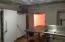 Freezer, Fridge and dishwashing area