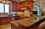 This kitchen totally opens to Dining Area and Living Area