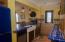 Kitchen with retro fridge
