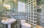 3rd Bedroom/Office bath with glass block shower
