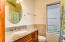 Granite bath and custom cabinetry in south shore 1 BR cottage