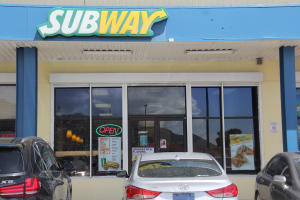 Subway in Buccaneer Mall across from Cruise ship dock in Havensight