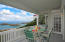 covered gallery with views to Puerto Rico and harbor