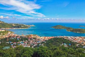 Panoramic town and harbor views