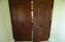Detail of Mahogany doors.