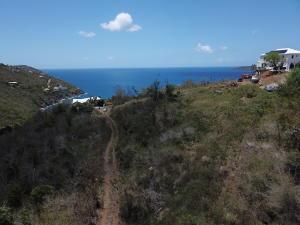Land is below the road